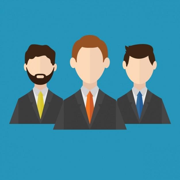 Geschäftsleute Icons Design Kostenlose Vektoren