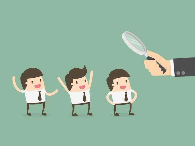 Geschäftsleute werden beobachtet Kostenlose Vektoren