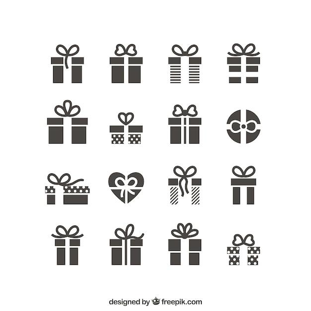 Geschenk-icons Kostenlosen Vektoren