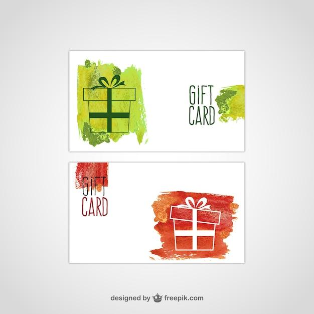 Geschenk-karte vektor- Kostenlosen Vektoren