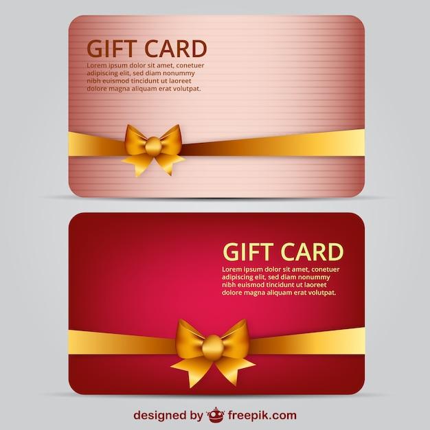 Geschenk-karte vorlage Kostenlosen Vektoren