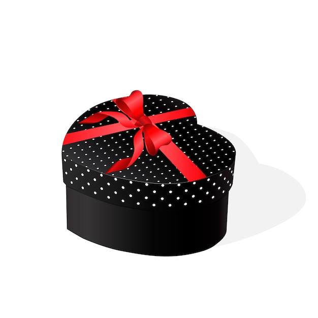 Geschenkbox mit roter schleife. vektor-illustration Premium Vektoren