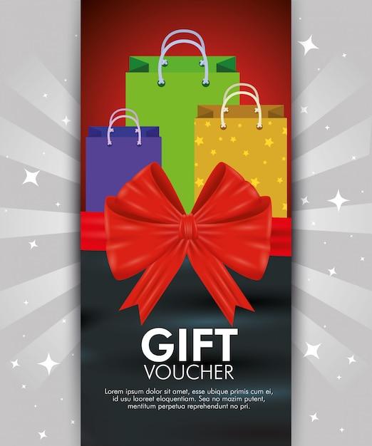 Geschenkgutschein mit sonderverkauf Kostenlosen Vektoren