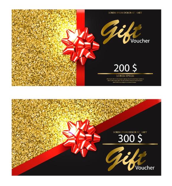 Geschenkgutschein Premium Vektoren