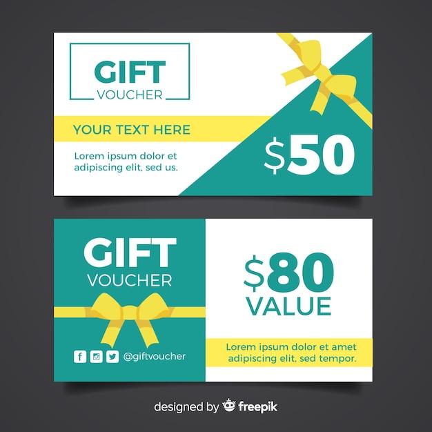 Geschenkgutschein Kostenlosen Vektoren