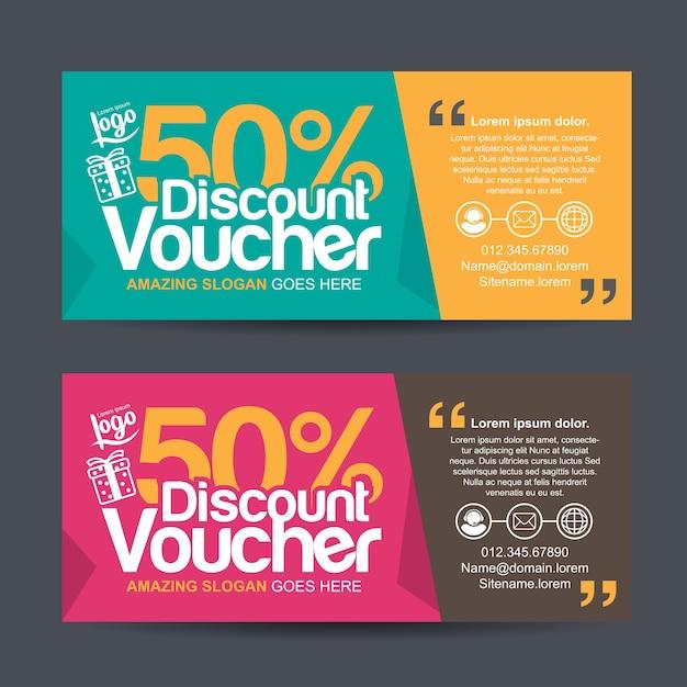 Geschenkgutscheinvorlage Premium Vektoren