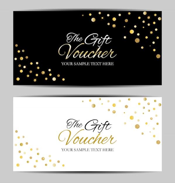Geschenkkarte vorlage Premium Vektoren