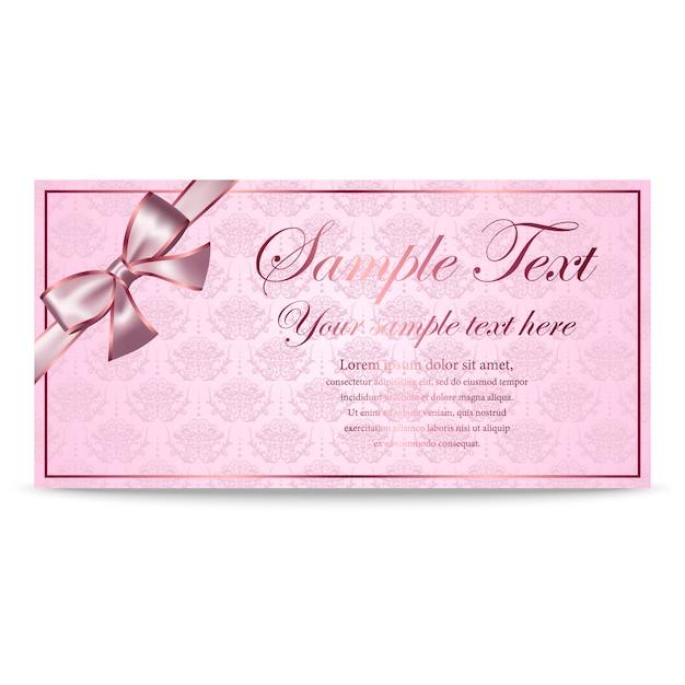 Geschenkkarte, zertifikat, gutschein, einladungsvorlage Premium Vektoren