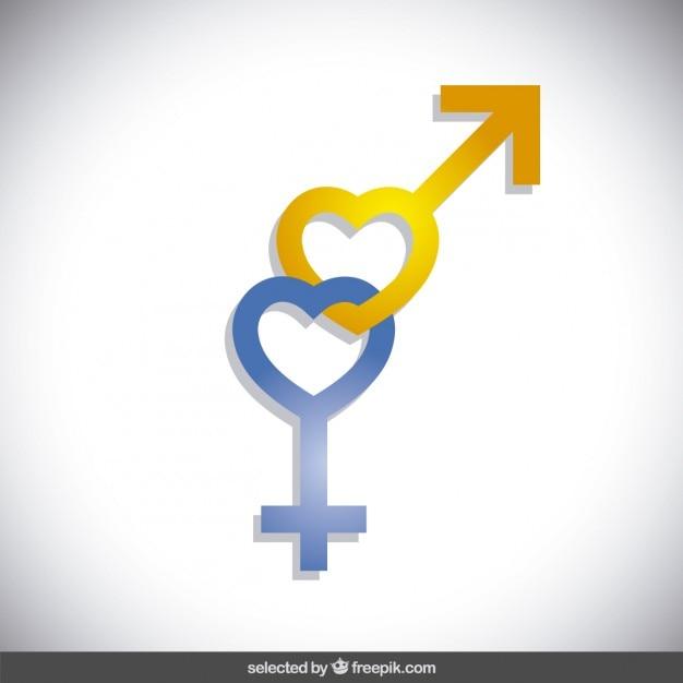 Geschlecht symbole Kostenlosen Vektoren