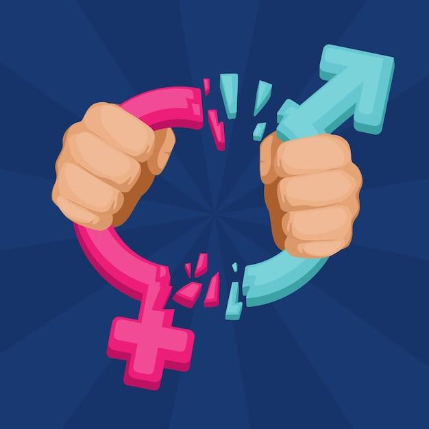 Geschlechtsnormen brechen Kostenlosen Vektoren
