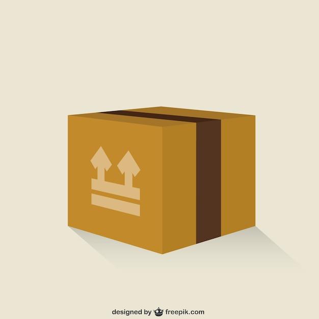 Geschlossen carboard box Kostenlosen Vektoren