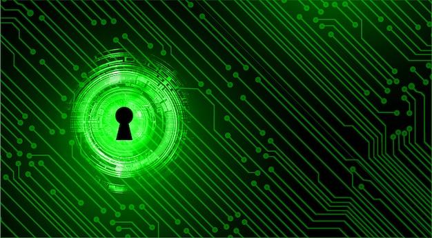 Geschlossenes vorhängeschloß auf digitalem hintergrund, internetsicherheit Premium Vektoren