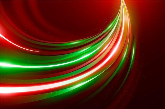 Geschwindigkeit neonlichter hintergrund Kostenlosen Vektoren