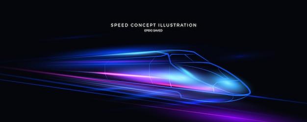 Geschwindigkeitsillustration, schneller hintergrund Premium Vektoren