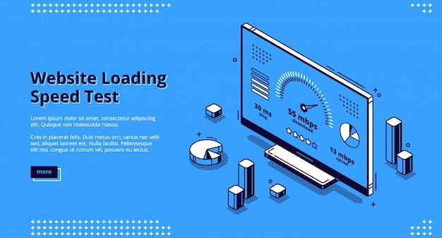 Geschwindigkeitstest für das laden der website Kostenlosen Vektoren