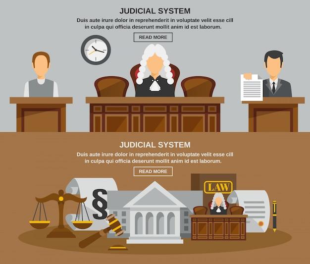 Gesetz-fahnen-set Kostenlosen Vektoren
