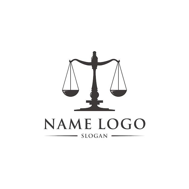 Gesetz logo vorlage Premium Vektoren