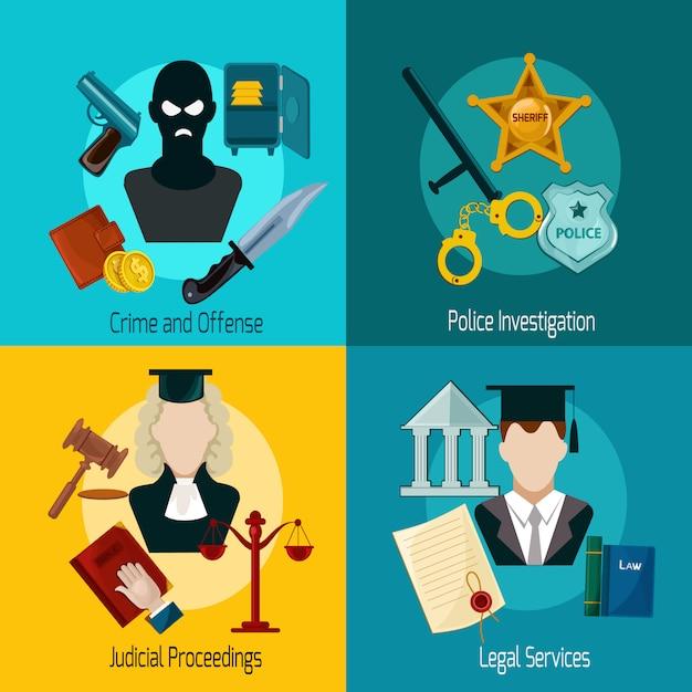 Gesetz-symbol flach Kostenlosen Vektoren