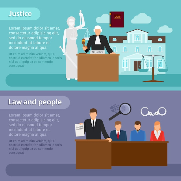 Gesetzesfahnen Premium Vektoren