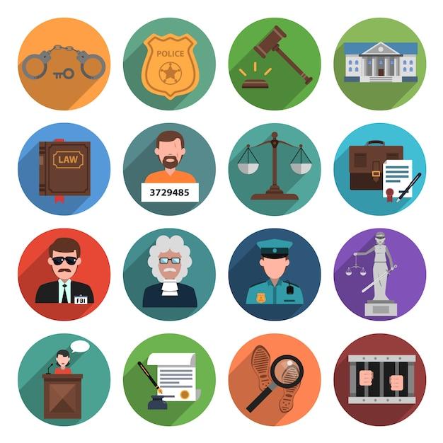 Gesetzesymbol flach Kostenlosen Vektoren