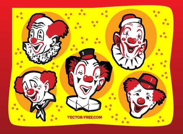 gesichter der lustige clown download der kostenlosen vektor. Black Bedroom Furniture Sets. Home Design Ideas