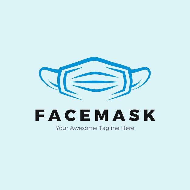 Gesichtsmasken-logo-konzept Kostenlosen Vektoren