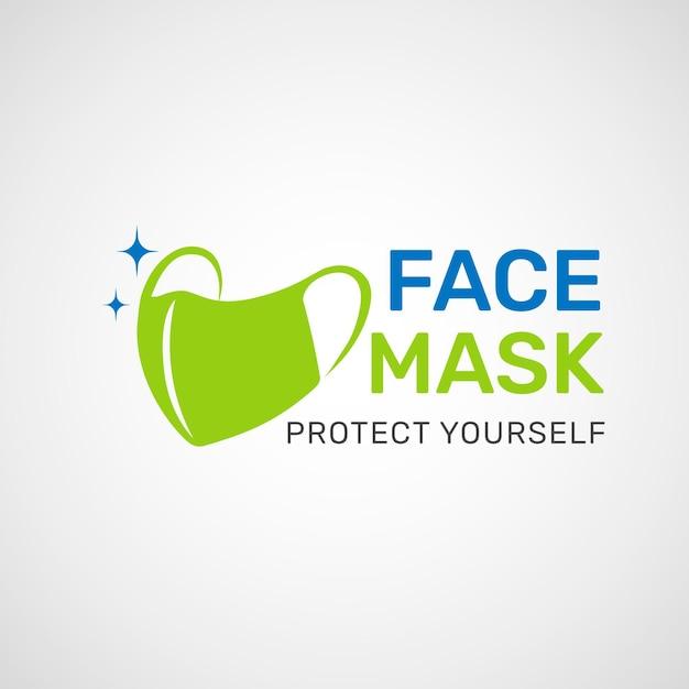 Gesichtsmasken-logo Premium Vektoren