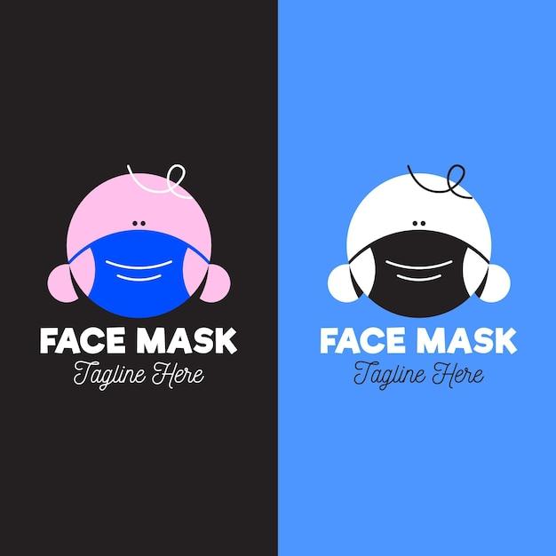 Gesichtsmasken-logo Kostenlosen Vektoren