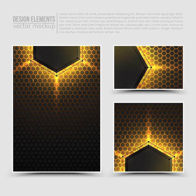 Gestaltungselemente: flyer, karte, banner. Premium Vektoren