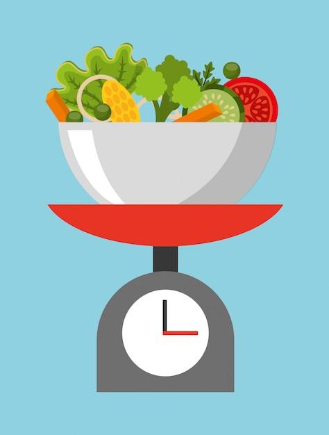 Gesunde ernährung illustration Kostenlosen Vektoren