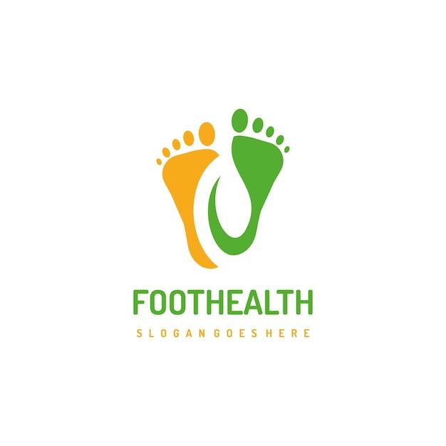 Gesunde füße logo vorlage Premium Vektoren