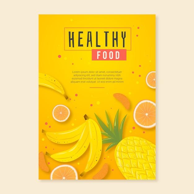 Gesunde lebensmittelplakatschablone Kostenlosen Vektoren