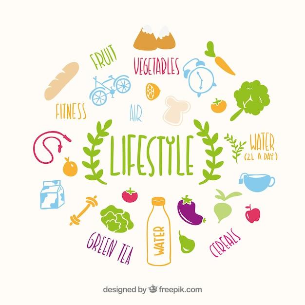 Gesunden lebensstil vektor Kostenlosen Vektoren