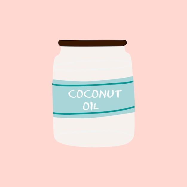 Gesunder bestandteilvektor des kokosnussöls Kostenlosen Vektoren