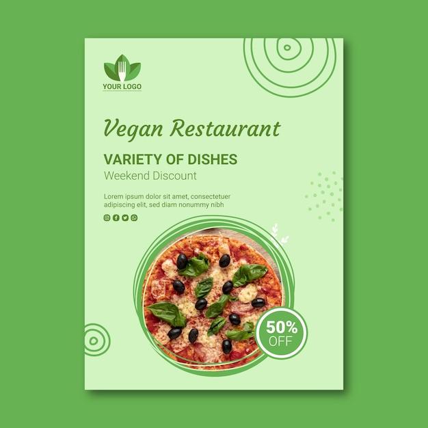 Gesunder restaurant flyer Kostenlosen Vektoren