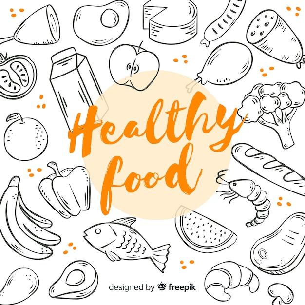 Gesundes essen hintergrund Kostenlosen Vektoren
