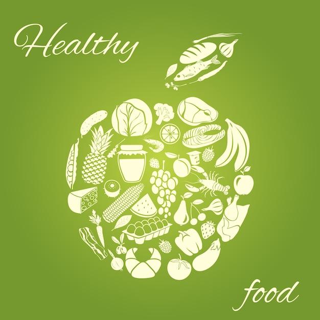 Gesundes essen Kostenlosen Vektoren