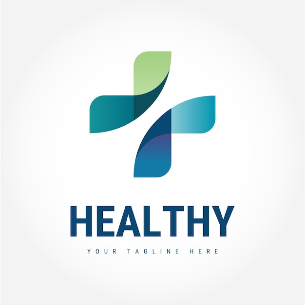 Gesundes logo Premium Vektoren