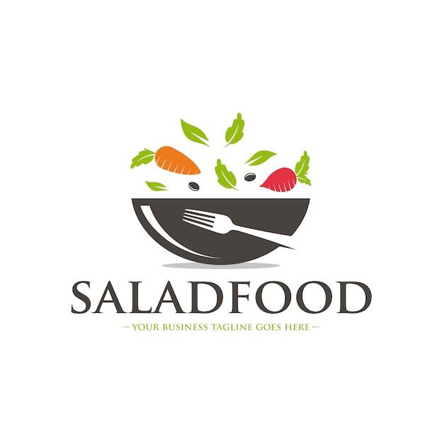 Gesundes menü logo vorlage Premium Vektoren
