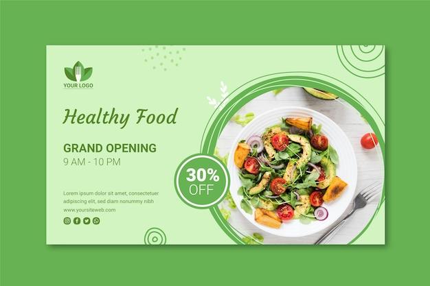 Gesundes restaurant banner Kostenlosen Vektoren