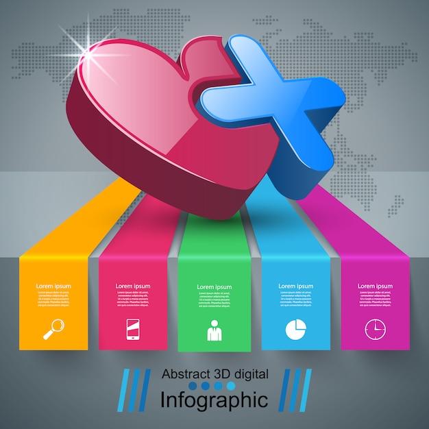 Gesundheit infografik Premium Vektoren