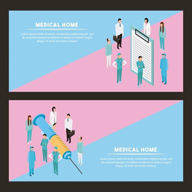 Gesundheit von medizinern Kostenlosen Vektoren