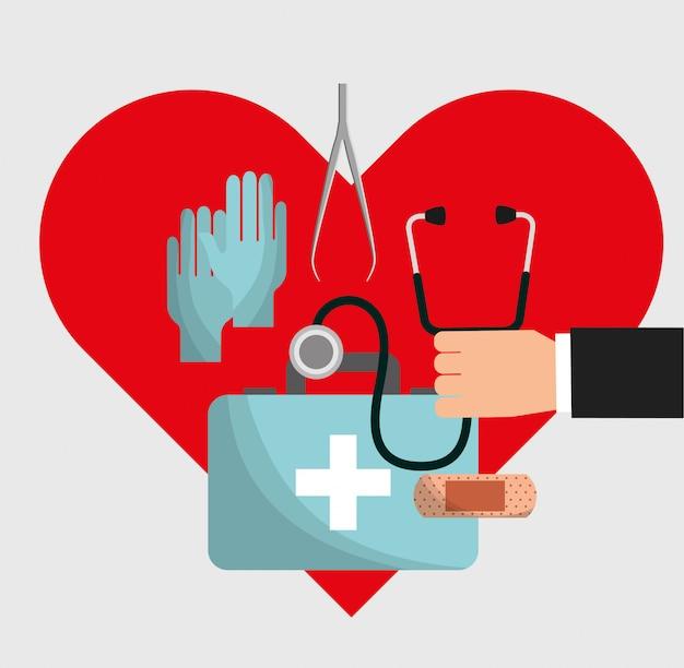 Gesundheitskarte Premium Vektoren