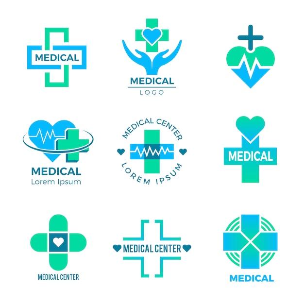 Gesundheitssymbole, medizinische zeichen für das zeichenklinik-gesundheitswesenkreuz plus getrennt Premium Vektoren
