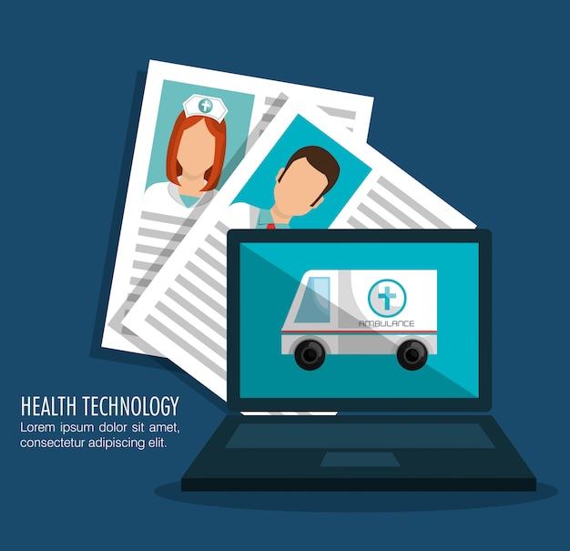 Gesundheitstechnologiedesign Premium Vektoren