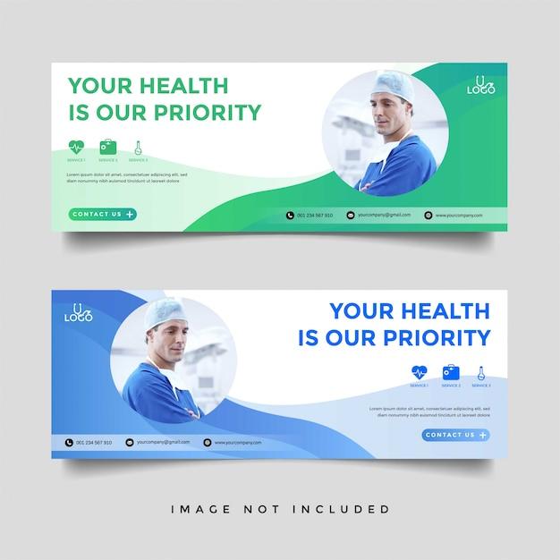Gesundheitswesen & medizinische banner promotion vorlage Premium Vektoren