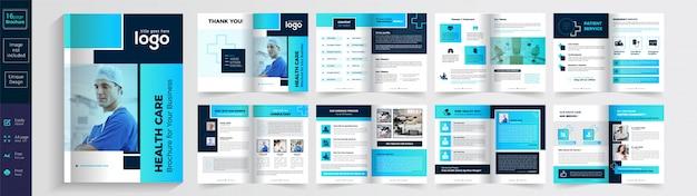 Gesundheitswesen oder medizinische broschüre Premium Vektoren
