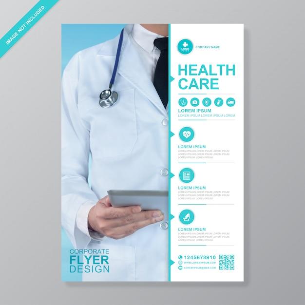 Gesundheitswesen und medizinische flyer entwurfsvorlage Premium Vektoren