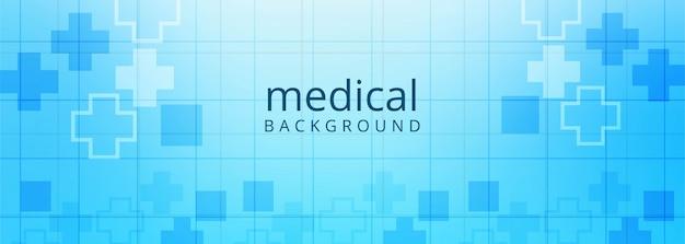 Gesundheitswesen und medizinischer fahnenschablonenhintergrund Kostenlosen Vektoren