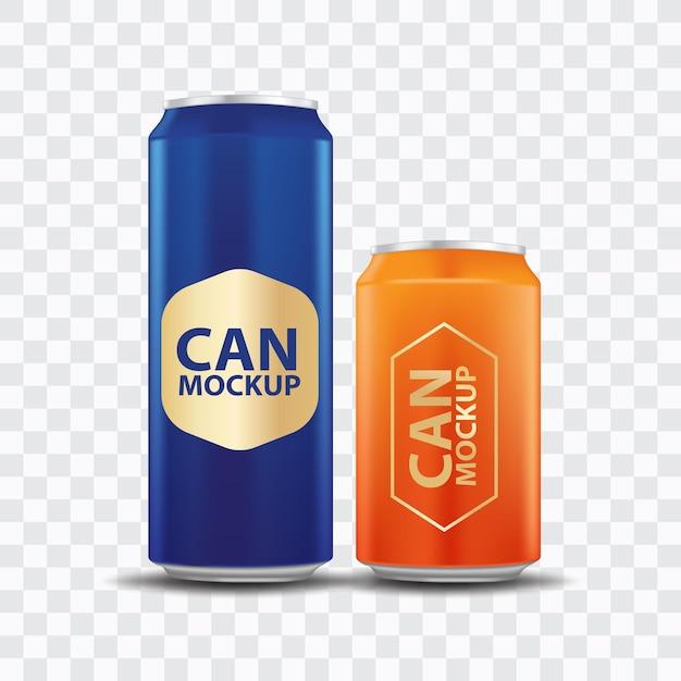 Getränk kann vorlage vorderansicht Premium Vektoren